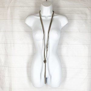 """Express Liquid Silver Snake 40"""" Necklace Knot New!"""
